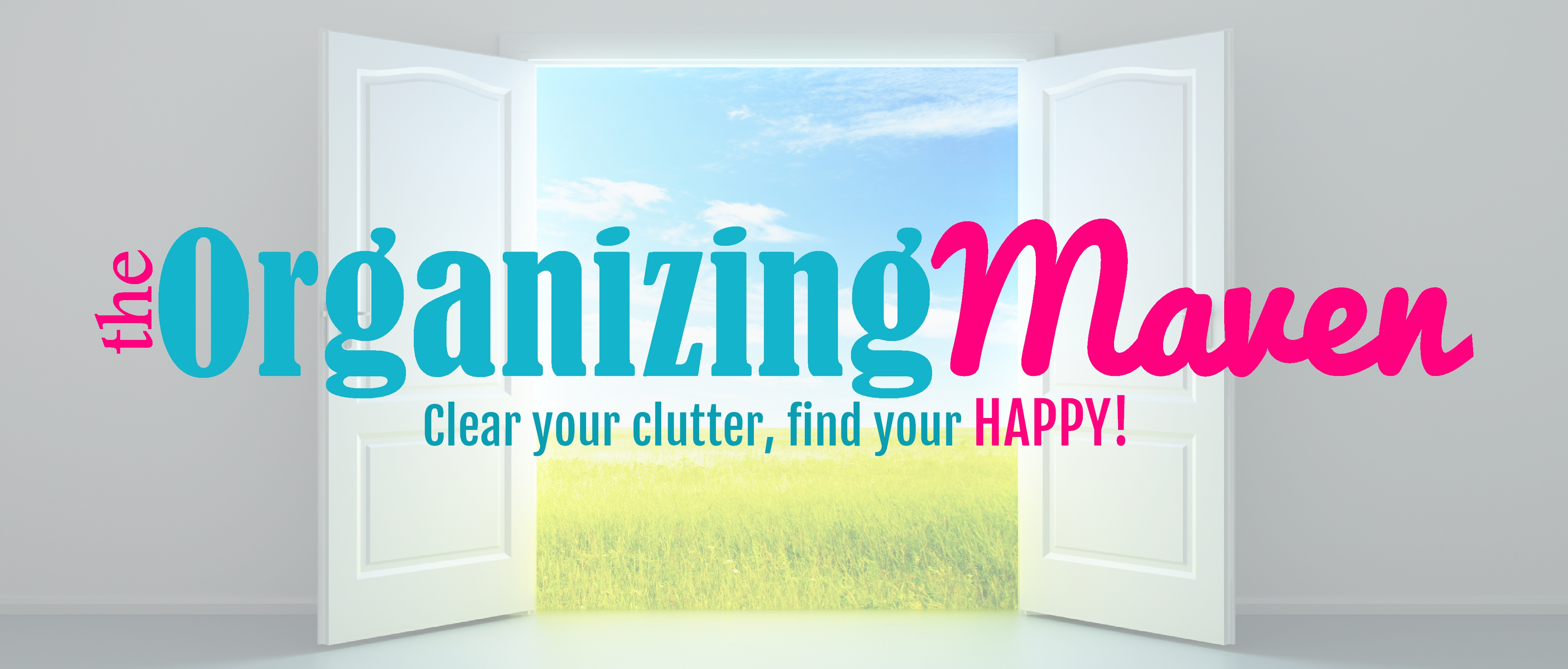 Declutter your life and get organized with the Organizing Maven - free e-course, tips and ideas for clutter free living!