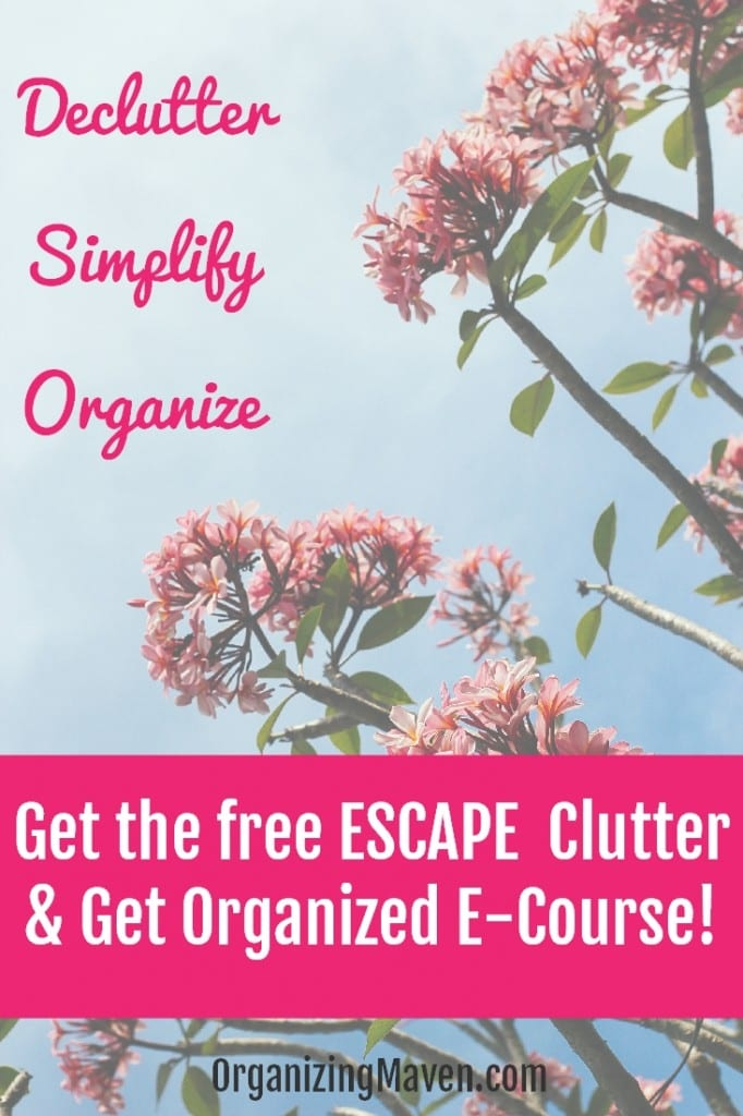 How To Declutter, Organize & Simplify Your Life E-Course