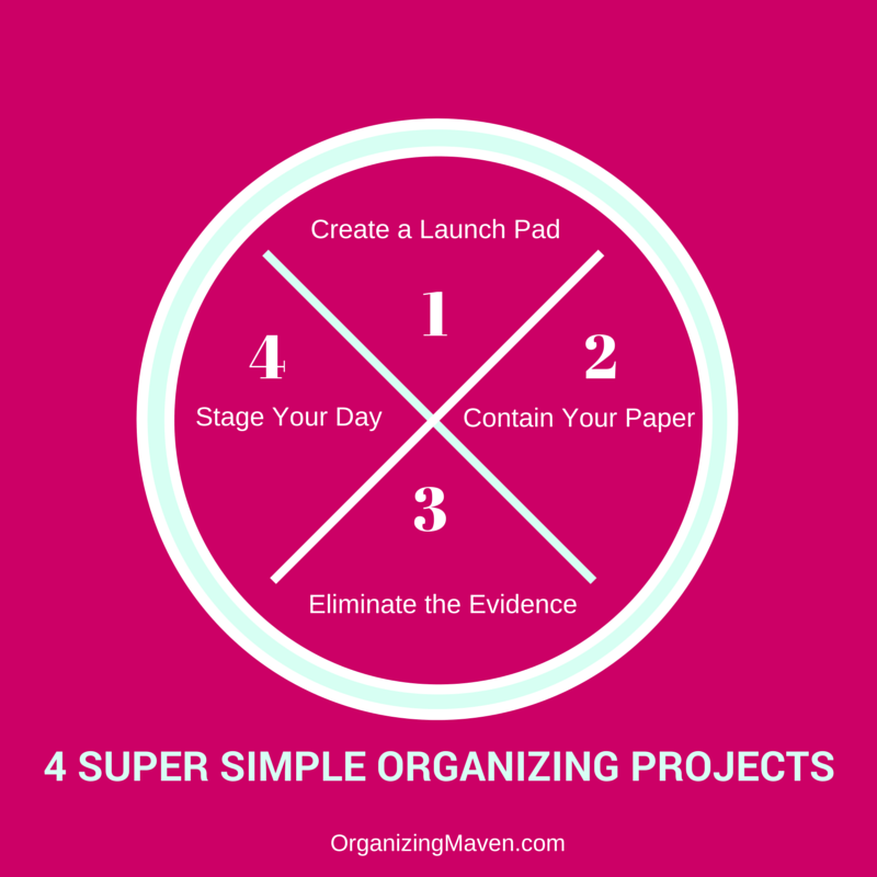 Be More Organized - 4 Simple Organizing Projects