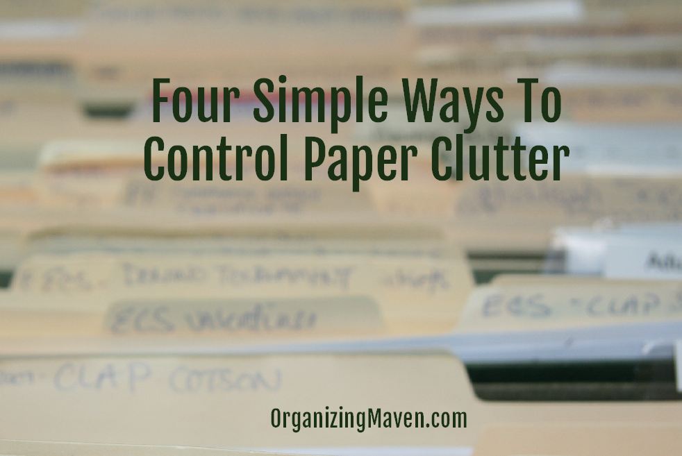 Four Ways To Stop Paper Clutter