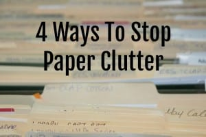 Eliminate Paper Clutter Tips