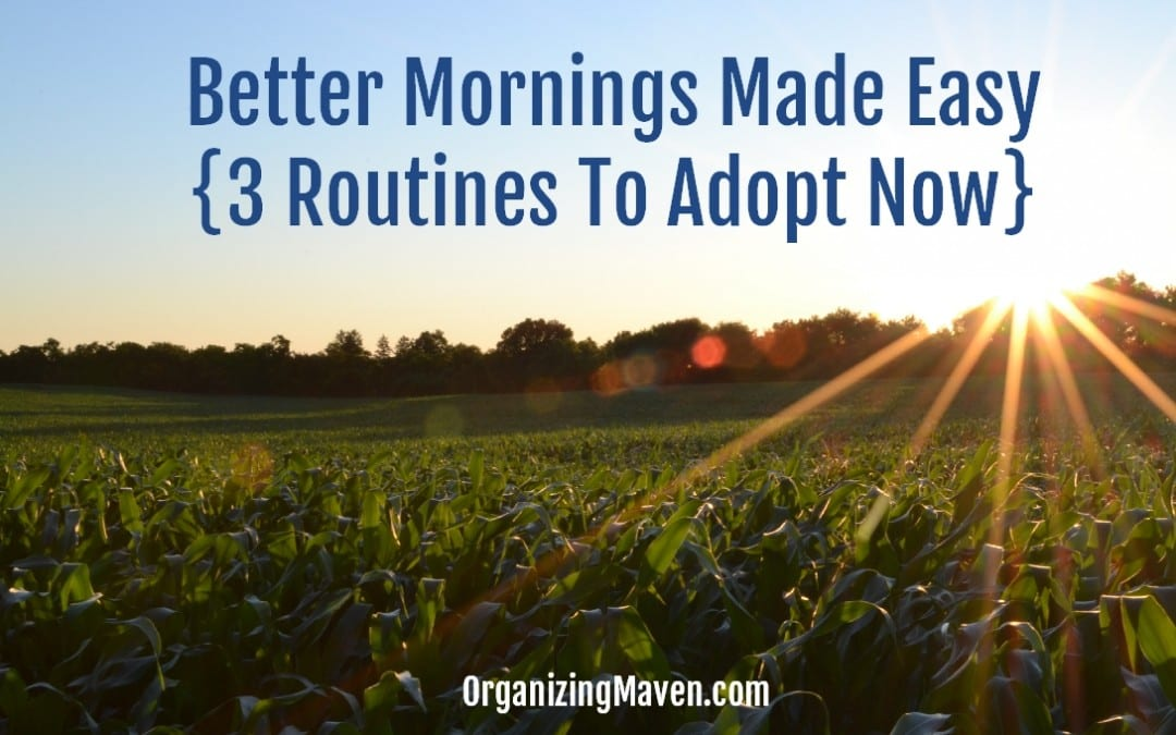 How To Make Your Morning Better With Routines