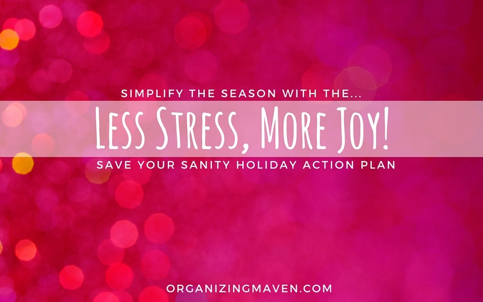 Learn how simplify the holidays and reduce stress