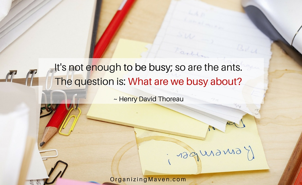 Do you know your priorities or are you trapped in the busyness bubble