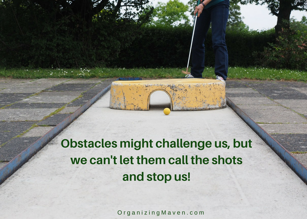Obstacles might challenge us, but we can overcome them