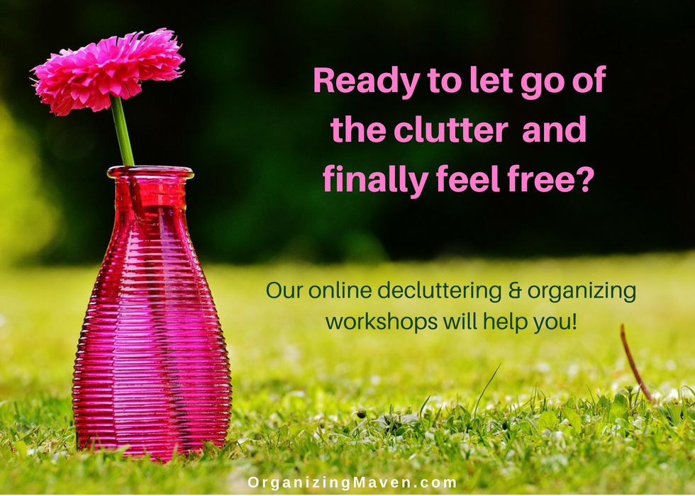 Online organizng and decluttering workshops will help you live free