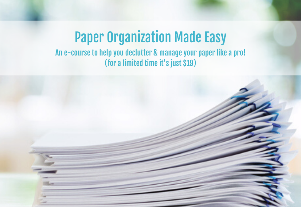 Paper Organization Made Easy E-Course